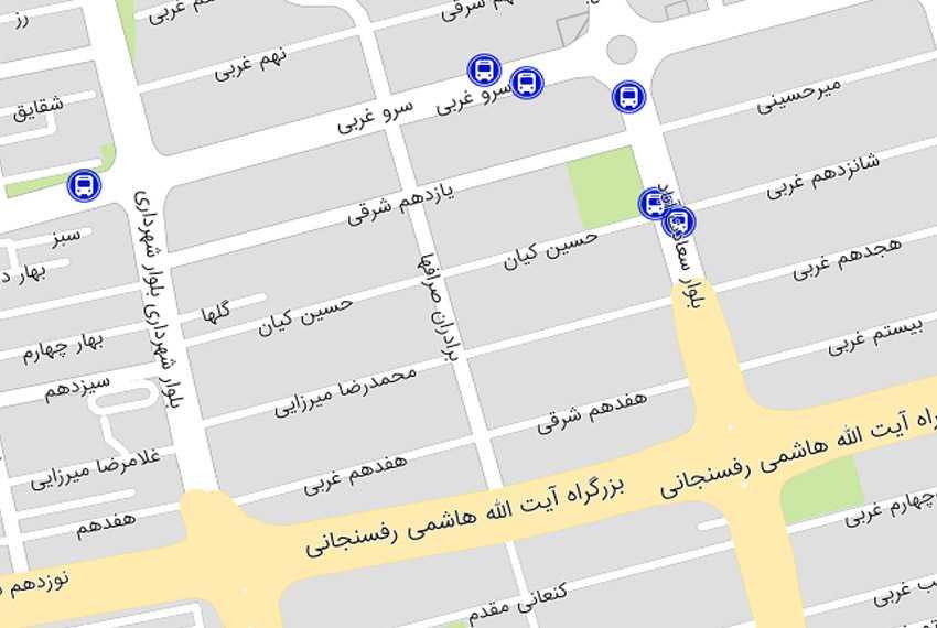 نقشه صرافها