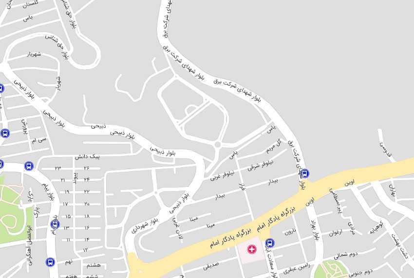 نقشه کوی فراز