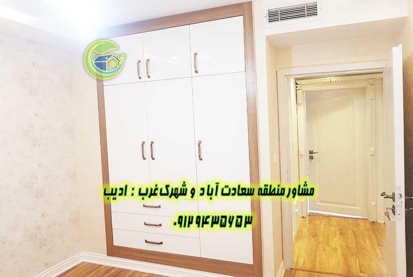 آپارتمان سعادت آباد 144 متری بازسازی شده