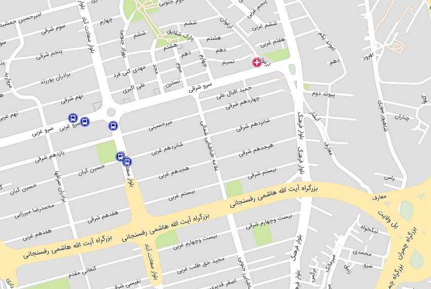 نقشه هوایی علامه