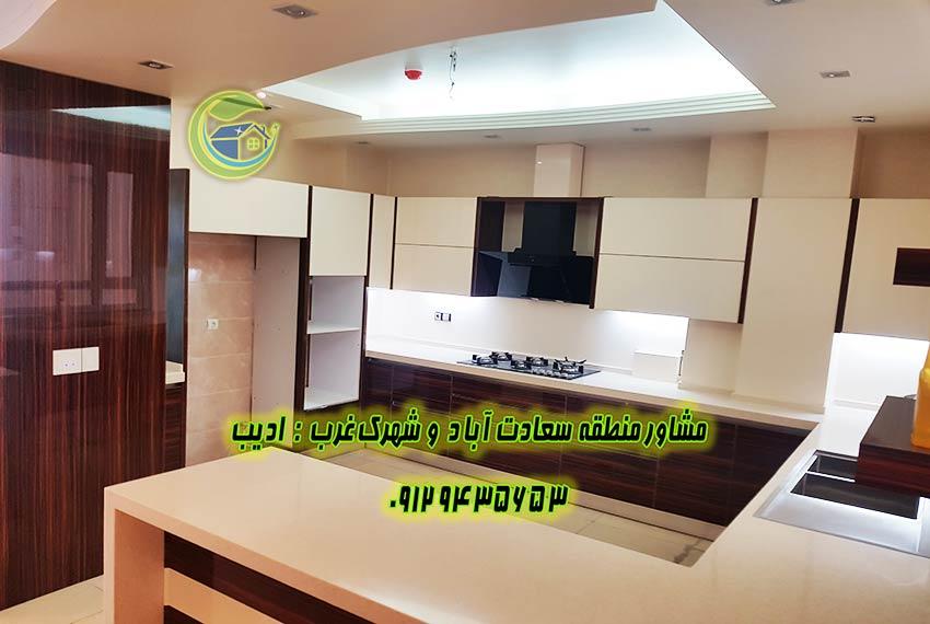 سعادت آّباد 220 متر آپارتمان نوساز