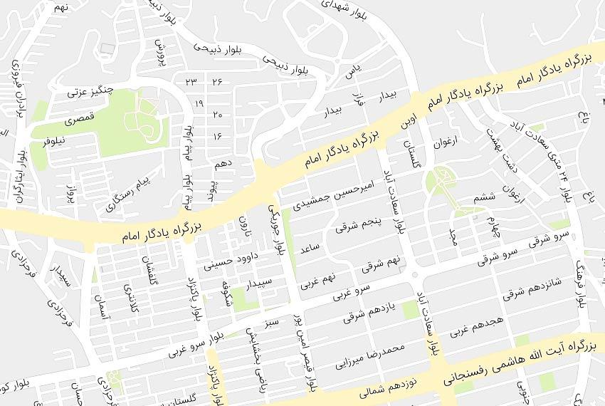 نقشه خیابان مروارید