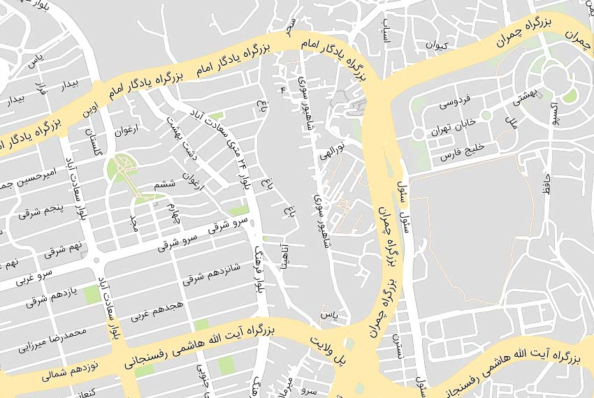 نقشه هوایی بلوار فرهنگ