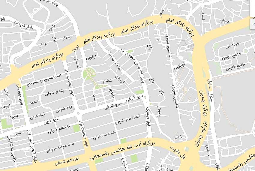 نقشه 24 متری سعادت آباد