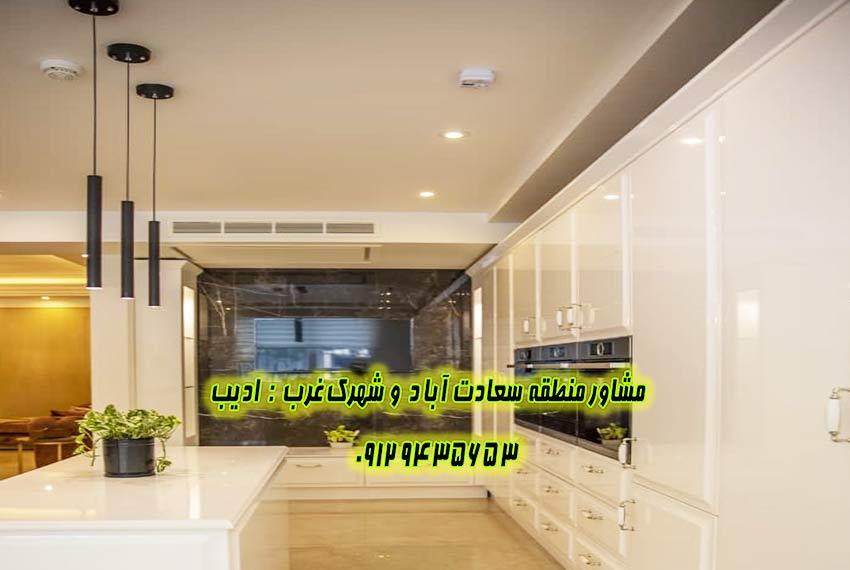 قیمت آپارتمان در سعادت آباد از سازنده های برند