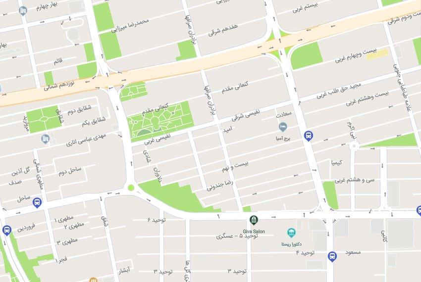 نقشه هوایی صرافها