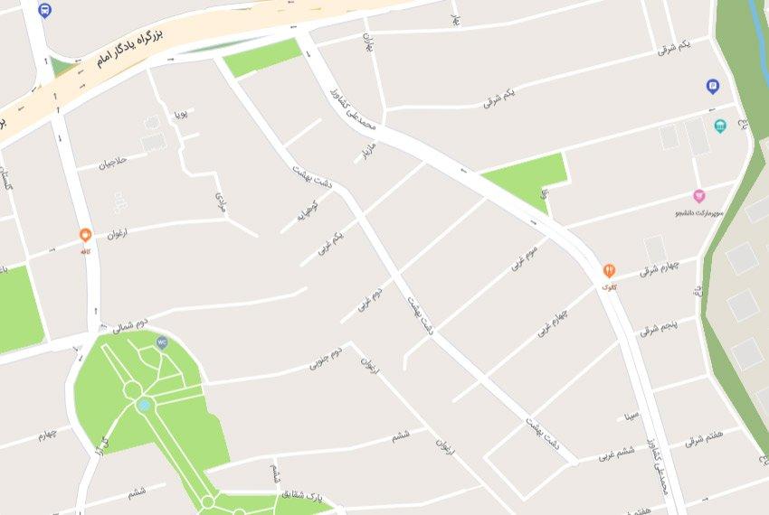 نقشه هوایی 24 متری