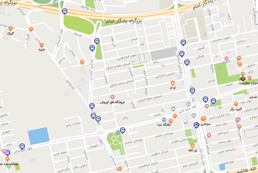 نقشه هوایی پاکنژاد