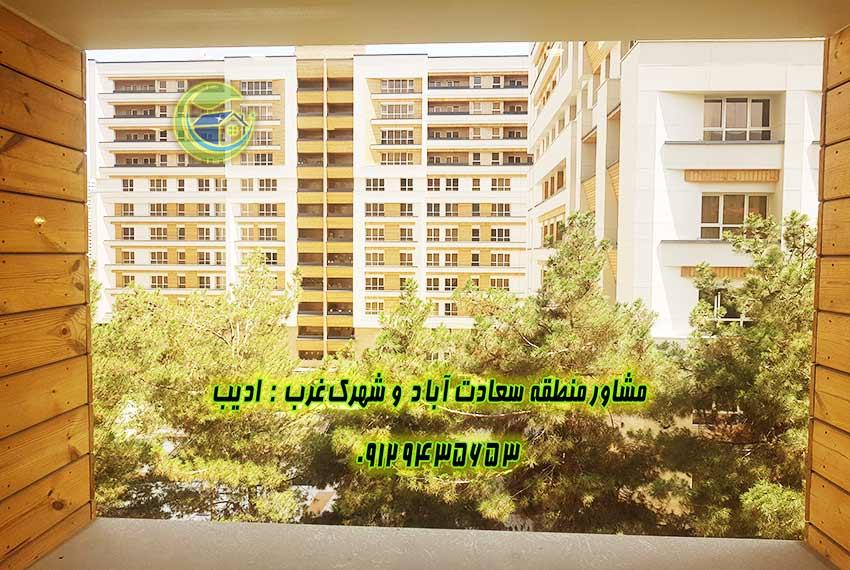 اجاره آپارتمان باغ بهشت سعادت آباد