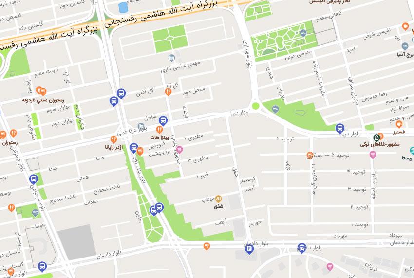 نقشه هوایی شفق