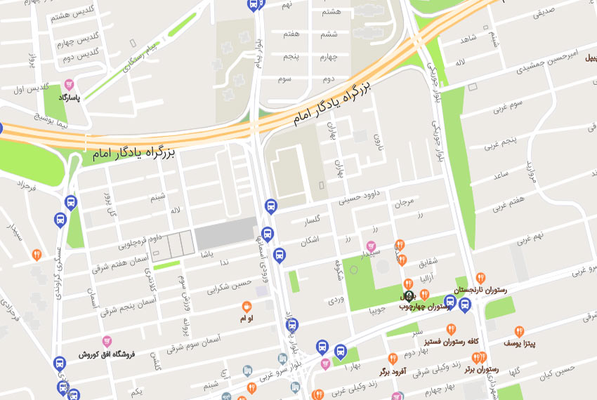 نقشه هوایی میدان شهرداری