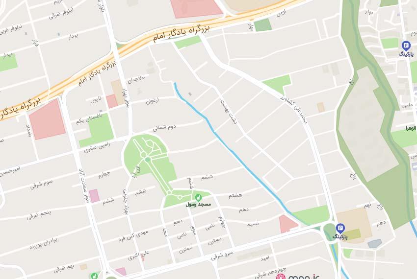 نقشه-هوایی-بلوار-24-متری