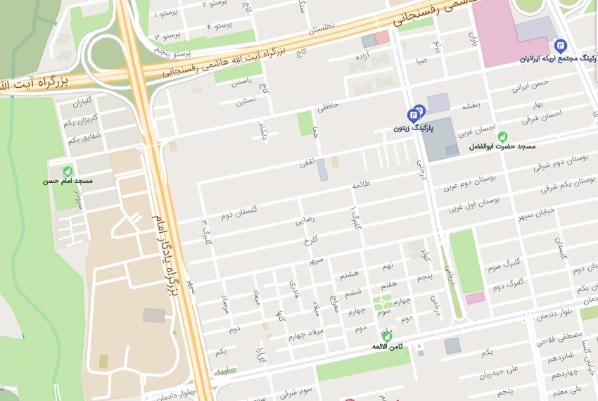 نقشه-هوایی-شهرک-غرب