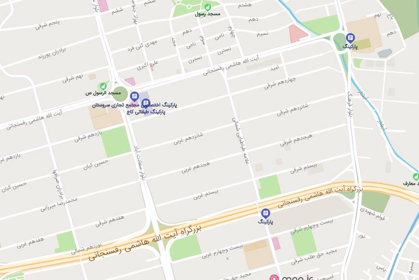 نقشه هوایی علامه شمالی