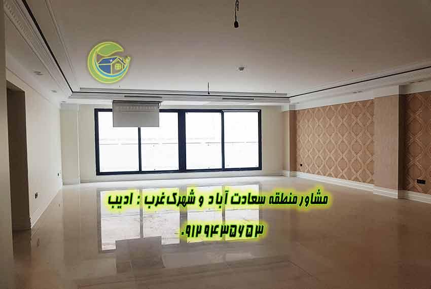 قیمت آپارتمان 250 متری در سعادت اباد