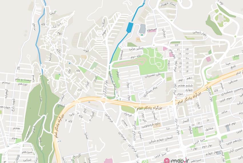 نقشه هوایی ساید پارک